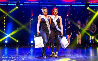 Miss Lyra Australia 2017: 1st Place Doubles Division: Maria and Tyra!